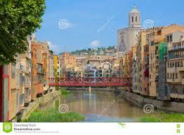 Girona Spain Map by Girona Spain Stock Photo Image 72770443