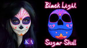 sugar skull halloween makeup black light sugar skull makeup tutorial youtube
