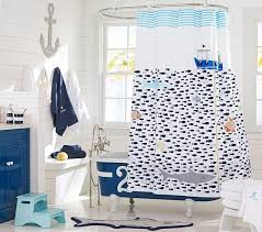 Childrens Shower Curtains Shower Curtain Under The Sea Shower Curtain Pottery Barn