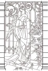 vitrail moyen age stained glass coloring pages for adults