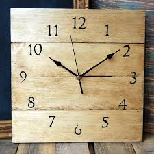 Free Wood Clock Plans by Diy Antique Wooden Pallet Wall Clock 101 Pallets