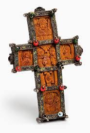 Sié E Croix Croix De Bénédiction Du Mont Athos Russie Ou Grèce Xixème Siècle