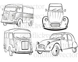 vintage cars clipart old time cars old classic vintage car drown in black on white