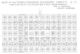 Phoenix Road Map by History Adventuring The History Of The Street Names In Phoenix