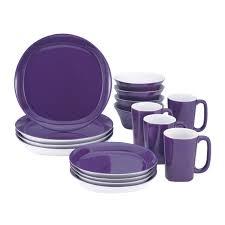 rachael 16 dinnerware set square walmart