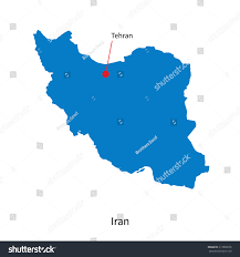 Tehran Map Detailed Vector Map Iran Capital City Stock Vector 213828076