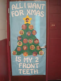 Christmas Decoration For Kindergarten by Backyards Classroom Door Decorated For College Month First Place