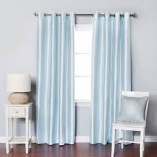 Powder Blue Curtains Decor Buy Blue Blackout Curtains From Bed Bath Beyond