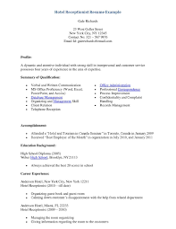 front desk resume samples sidemcicek com