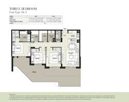 boulevard by nshama 3 bedroom apartment type 3a 1 floor plan