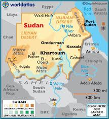 africa map khartoum sudan map geography of sudan map of sudan worldatlas