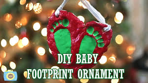 baby s footprint ornament vlogmas day 15