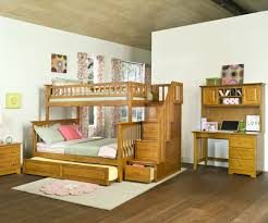 Kids Bunk Beds Twin Over Full by Columbia Twin Over Full Staircase Bunk Bed Caramel Latte Bedroom