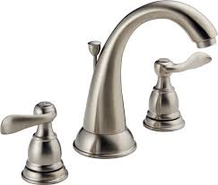 bathroom sink faucets amazon delta windemere b3596lf ss two handle widespread bathroom faucet