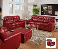Red Leather Reclining Chair Amazon Com Simmons Upholstery 9569 19 Soho Cardinal Bonded