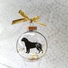 bullmastiff pet ornament silhouette ornament and