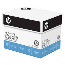 paper ream box hp office ultra white quickpack printer paper letter 20lb 92