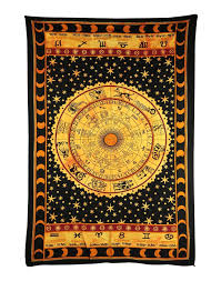 Celtic Home Decor Amazon Com Handicrunch Black Zodiac Horoscope Tapestry Indian