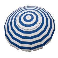 Patio Umbrellas Ebay by Heininger 1432 8ft Royal Blue And White Stripe Deluxe Beach Patio