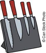 eps vector of set of 4 steel kitchen knives set of 4 stainless