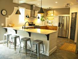 eat in island kitchen kitchens without upper cabinets this u shaped kitchen is anchored