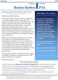 pta newsletter september 2015 u2013 boston harbor pta