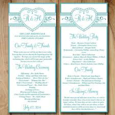printable wedding program template best wedding ceremony program templates products on wanelo