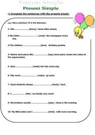 best 25 simple present tense worksheets ideas on pinterest
