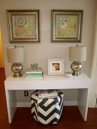 White Entry Table by Elegant Interior And Furniture Layouts Pictures Entrance
