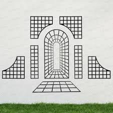 treillage trompe l u0027oeil à composer acier noir glass garden and