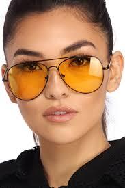black frame aviator sunglasses