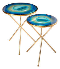 side table set of 2 faux agate side table nesting agate table set of 2 living room rugs