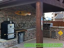 kitchen outdoor kitchen designs with smoker cool home design