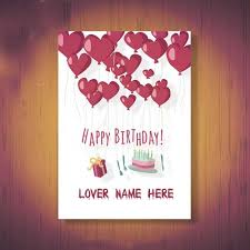 online create happy birthday wishes cards for lover