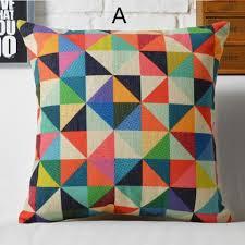 déco coussin canapé pop oreiller géométrique coloré pour la maison linge de