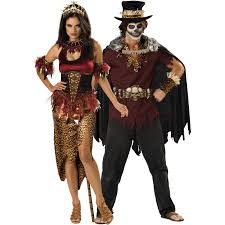 doctor who halloween costumes for sale voodoo dolly and premier witch doctor couples costume on sale