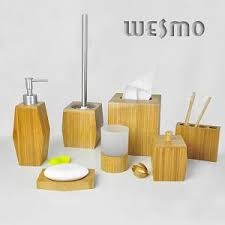 Bamboo Bathroom Accessories by Bathroom Accessories Wesmo