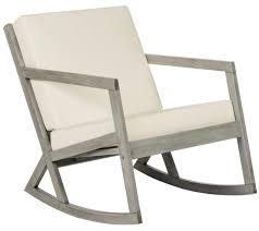 Garden Rocking Bench Cushioned Rocking Chair Outdoor Rocker Safavieh