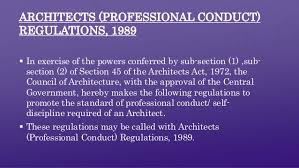 Council Of Architecture Professional Practice Pdf Architect S Act 1972