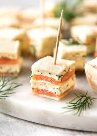 canapes finger food smoked salmon appetizer bites food made and easy