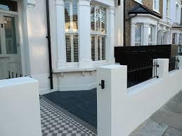 Home Design Stores London by Victorian Front Garden Design London Render Plaster Block Wall
