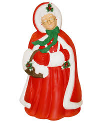 Lighted Santa And Reindeer Outdoor by General Foam Plastics Light Up Mrs Claus Christmas Decoration