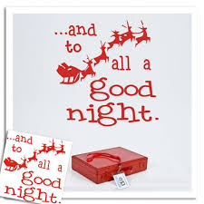 to all a good night sticker