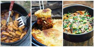 21 easy dutch oven camping recipes campfire cooking with a cast