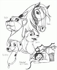 spirit stallion of the cimarron coloring pages rain coloring home