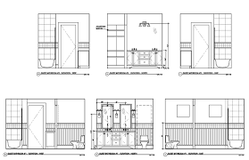Autocad Kitchen Cabinet Blocks Telluride Colorado Ski Villa Architectural Drawing Cad Drawings
