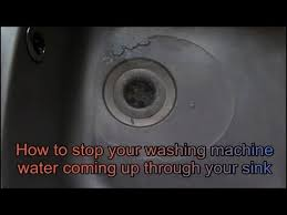 How To Fix Water Coming Up Through Your Sink From The Washing - Kitchen sink backed up