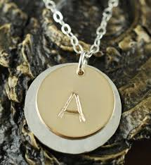 Stamped Initial Necklace Hand Stamped Washer Necklace Hand Stamped Necklace Washer