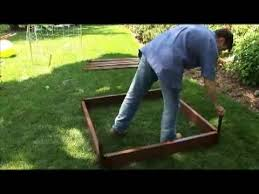setting up frame it all composite raised bed garden kit youtube