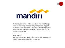 Bank Mandiri Study Bank Mandiri